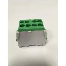 Svorka rozbočovacia FVKO 2x25/2x16 mm2 pre Cu/Al vodiče - zelená