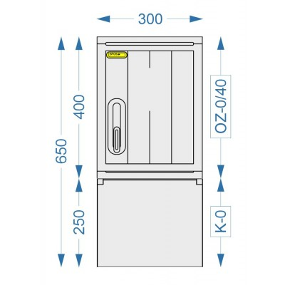 Prázdna skriňa  OZ-0/40 + K-0