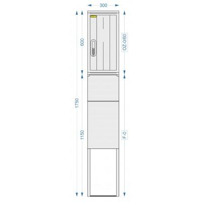Prázdna skriňa OZ-0/60 + F-0