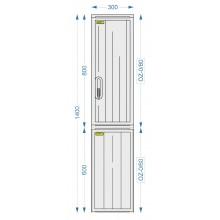 Prázdna skriňa OZ-0/80 + OZ-0/60 + ZD-0