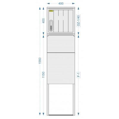 Prázdna skriňa OZ-1/40 + F-1