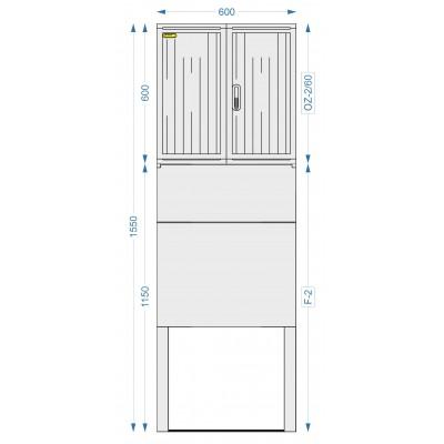 Prázdna skriňa OZ-2/60 + F-2