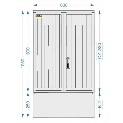 Prázdna skriňa OZ-2/80 + K-2