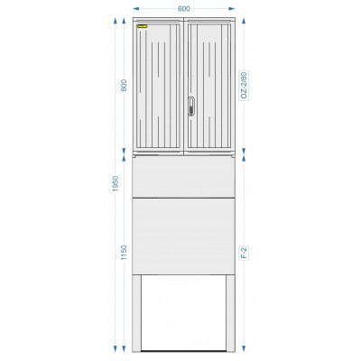 Prázdna skriňa  OZ-2/80 + F-2