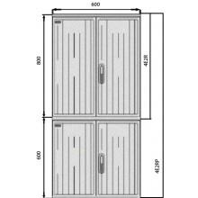 SFOS elektromerový rozvádzač 4E2RP