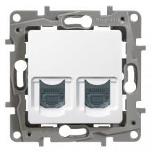 Zásuvka 2xRJ45 Legrand Niloé dvojitá dátová biela