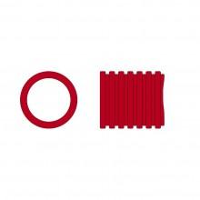 Chránička káblov červená 63mm