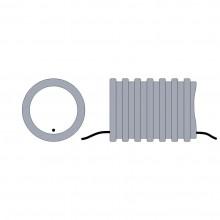 Hadica ochranná na káble 25mm s drôtom sivá