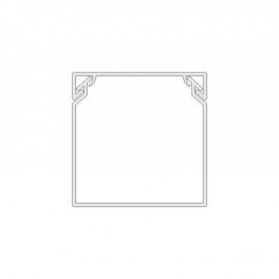 Žľab PVC biely 16x16