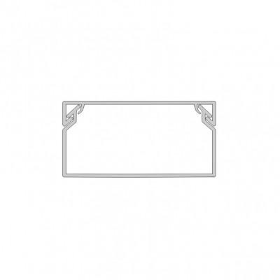 Žľab PVC biely 40x20