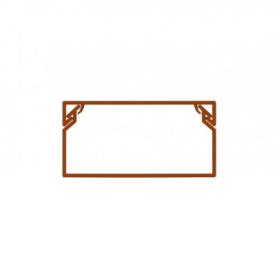 Žľab PVC tmavé drevo 18x13