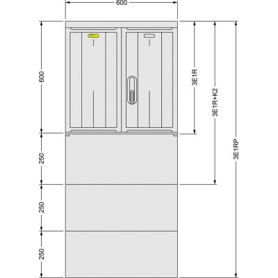 SFOS 3E1RP elektromerový rozvádzač