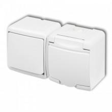Vypínač č.1+zásuvka WGHH-1 biela