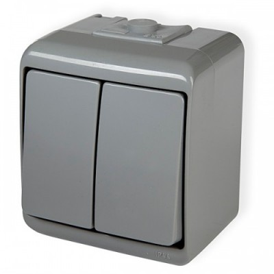 Vypínač č.5 10WHE-2 šedý