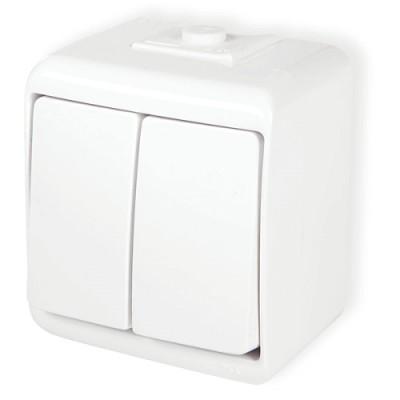 Vypínač č.5 WHE-2 biely