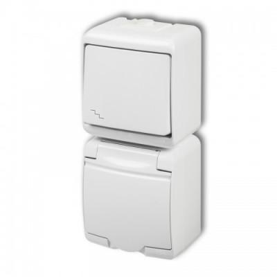 Vypínač č.6+zásuvka WGHP-3 biela