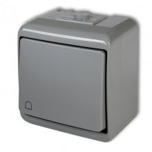Vypínač č.8 zvonček 10WHE-4 šedý
