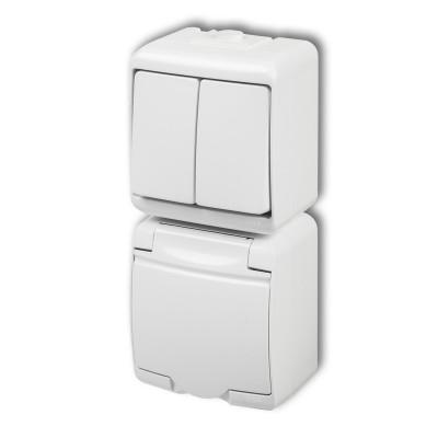 Vypínač č.5+zásuvka WGHP-2 biely