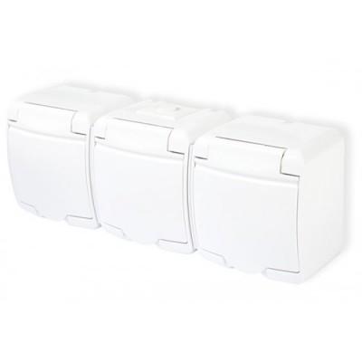 Trojzásuvka GHE-3 biela
