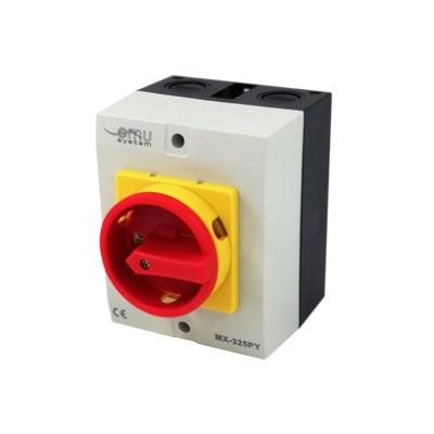 Núdzový vypínač MX-325PY 25A v krabici