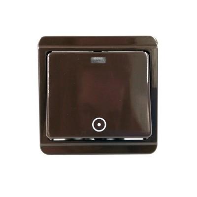 Vypínač č.8 zvonček s tlejivkou hnedý 4FN57518.2116