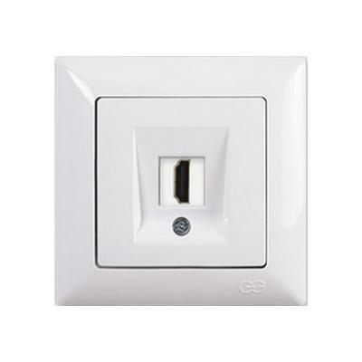 Zásuvka HDMI Visage Simple biela