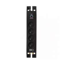 EMOS prepäťová ochrana 4 zásuvky/ 2m/ čierna/ P54022