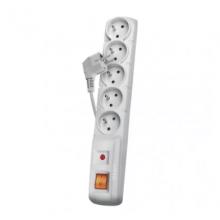 EMOS prepäťová ochrana 5 zásuviek/ 3m/ sivá/ P53874