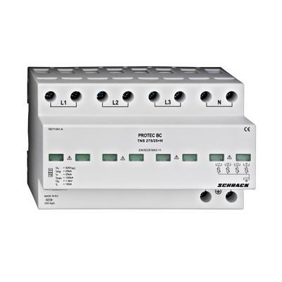 Kompletný zvodič PROTEC T1+2/B+C TNS, 4p, 25kA, 275V