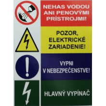 Samolepka štvorštítok lesklá Slovenská 80x60mm