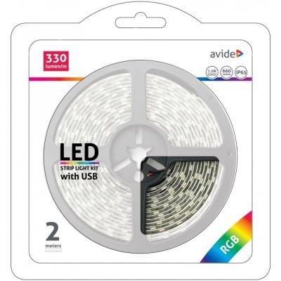 LED pás AVIDE blister 5V 7,2W RGB 2M