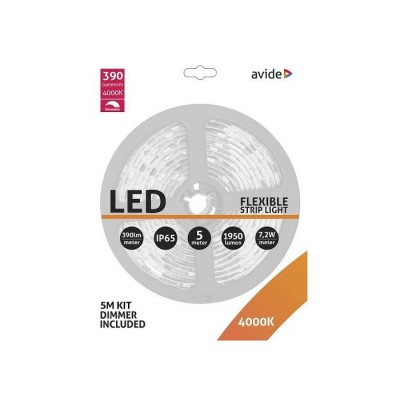 LED pás AVIDE blister+stmievač 12V 7,2W NW 5M
