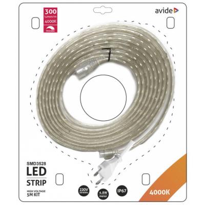 LED pás AVIDE blister 220V 4,8W NW 5M