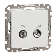 Zásuvka TV-SAT koncová Schneider Electric SEDNA biela SDD111471S