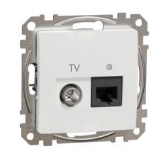 Zásuvka dátová TV+RJ45 CAT6 Schneider Electric SEDNA biela SDD111469T