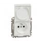 Zásuvka s krytom Schneider Electric SEDNA biela IP44 SDD211014