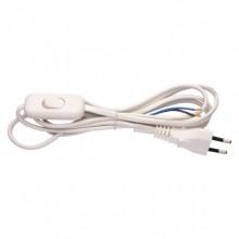 EMOS šnúra Flexo s vypínačom, 2m, 2x0,75mm2 - biela S08272