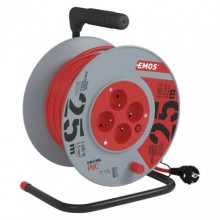 EMOS predlžovací kábel na bubne s PVC izoláciou P19425, 4 zásuvky, 25m