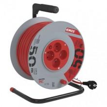 EMOS predlžovací kábel na bubne s PVC izoláciou P19450, 4 zásuvky, 50m