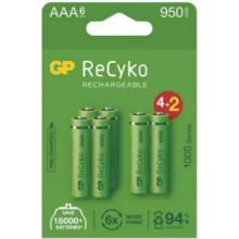 Batéria GP HR03 1000 RECYKO 1,2V (AAA) 6ks 1032126100