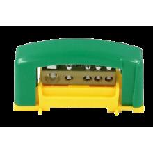 Svorkovnica s krytom 1x35, 14x16 žltozelená E.4125P