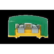 Svorkovnica s krytom 2x35 žltozelená E.4121P