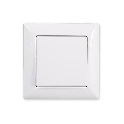 Vypínač č.1 Visage Simple biely