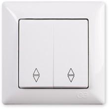 Vypínač č.5b Visage Simple biely (2x schodiskový)