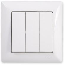 Vypínač trojpólový Visage Simple biely