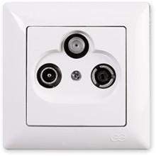 Zásuvka TV-R-SAT prieb. Visage Simple biela