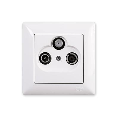 Zásuvka TV-R-SAT koncová Visage Simple biela