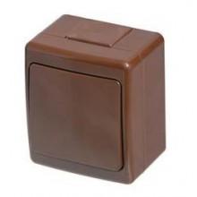 Vypínač vodotesný nástenný č.6 hnedý, IP44