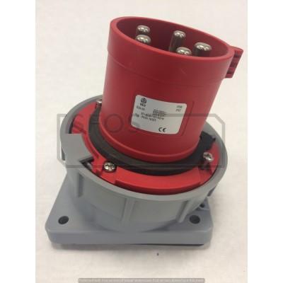Vstavaná prívodka 63A, 400V, 5-pól, IP67