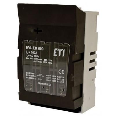 Odpínač ETI HVL 000 -100 A-3P M8-M8